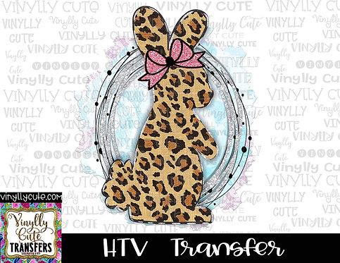 Leopard Bunny ~ HTV Transfer ~ Easter