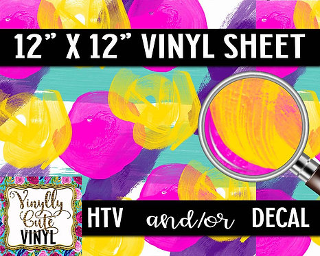 Pop Of Color Vinyl ~ HTV or ADHESIVE DECAL
