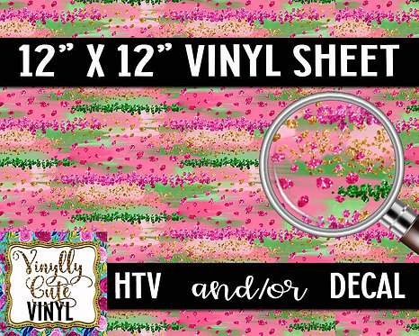 Sparkly Girl Camo ~ HTV or ADHESIVE DECAL