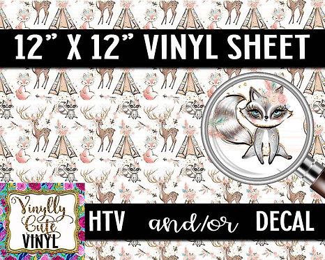 Boho Animal Vinyl ~ HTV or ADHESIVE DECAL