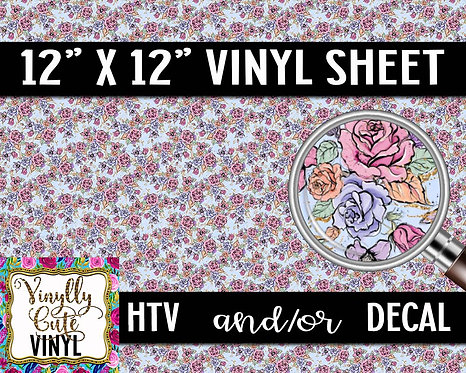Spring Floral Vinyl ~ HTV or ADHESIVE DECAL