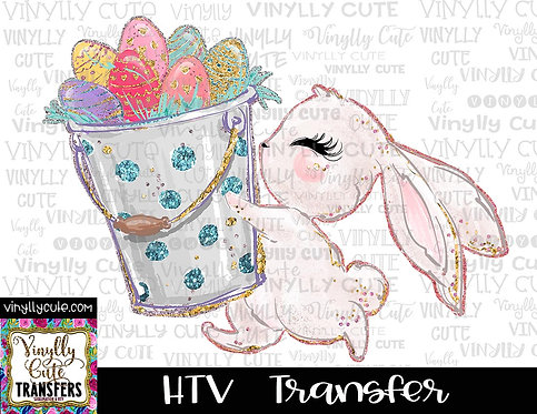 Easter Bunny with Easter Basket ~ HTV Transfer
