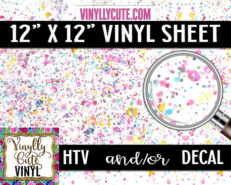 Pastel Splatter ~ HTV or ADHESIVE DECAL VINYL