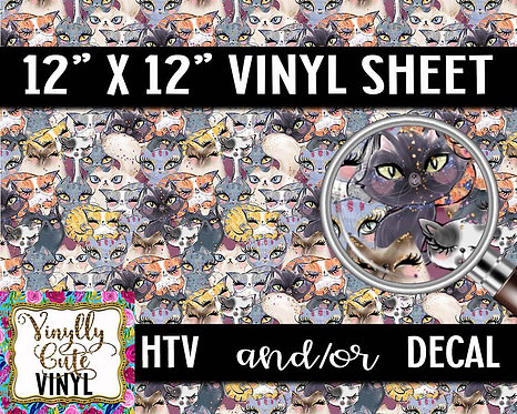 Fab Kitty Vinyl ~ HTV or ADHESIVE DECAL