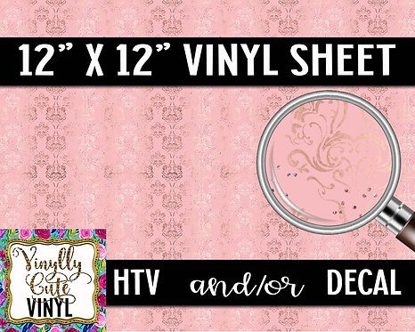 Classic Pink Wallpaper ~ HTV or ADHESIVE DECAL