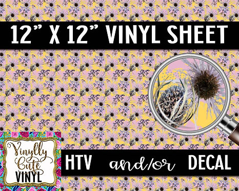 Dried Flowers Vinyl ~ HTV or ADHESIVE DECAL
