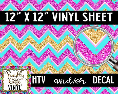 Glitter Chevron Vinyl ~ HTV or ADHESIVE DECAL
