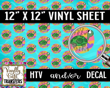 Save The Turtles Vinyl ~ HTV or ADHESIVE DECAL