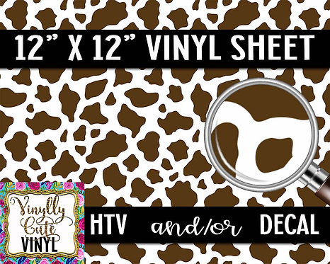 Brown Cow Vinyl ~ HTV or ADHESIVE DECAL
