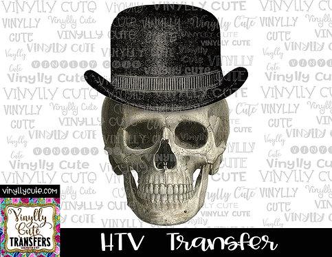 Skull With Hat ~ HTV Transfer