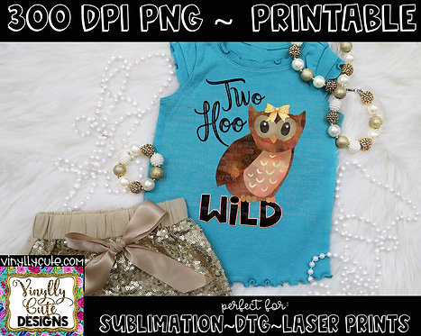 DIGITAL - Two Hoo Wild  Girl Owl