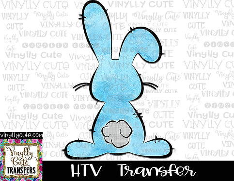 Blue Watercolor Bunny ~ HTV Transfer ~ Easter