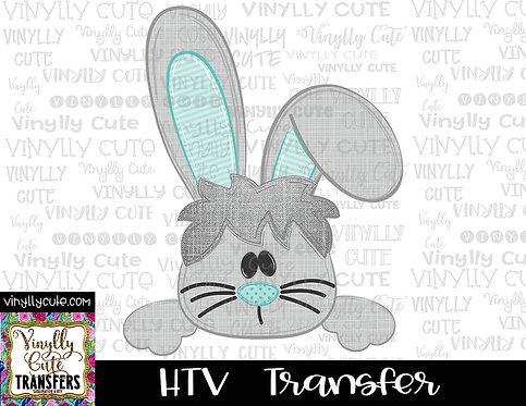 Boy Bunny Peeker ~ HTV Transfer ~ Easter