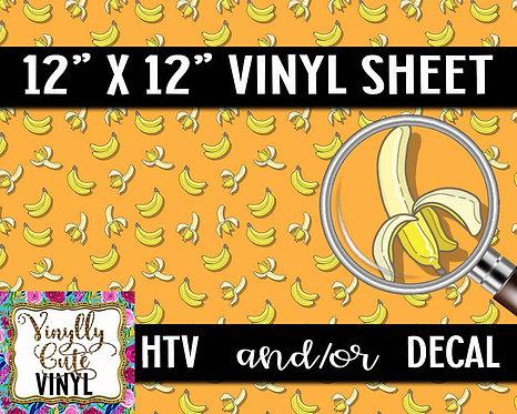 Orange Banana Vinyl ~ HTV or ADHESIVE DECAL
