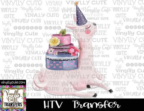 Birthday Llama ~ HTV Transfer