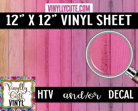 Pink Ombre Wood ~ HTV or ADHESIVE DECAL VINYL