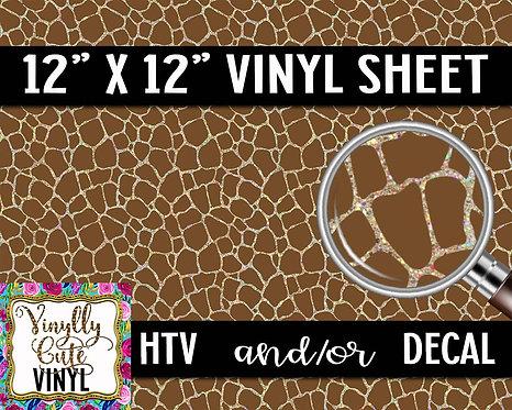 Sparkle Giraffe Vinyl ~ HTV or ADHESIVE DECAL