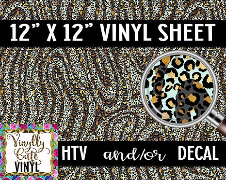 Leopard Swirl Vinyl ~ HTV or ADHESIVE DECAL