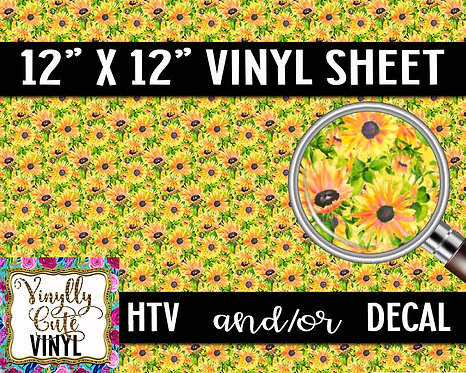 Field Of Yellow ~ HTV or ADHESIVE DECAL