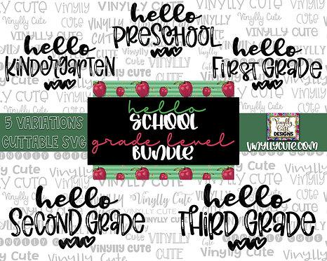 DIGITAL BUNDLE - Hello School Grade Level Bundle