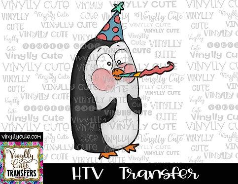Birthday Penguin ~ HTV Transfer