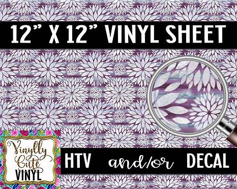 Purple Dahlia Vinyl ~ HTV or ADHESIVE DECAL