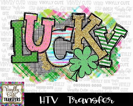 Lucky Plaid ~ HTV Transfer