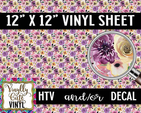 Classic Floral ~ HTV or ADHESIVE DECAL