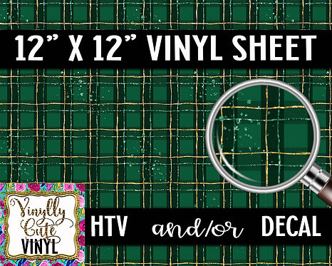 St. Patty Plaid Vinyl ~ HTV or ADHESIVE DECAL