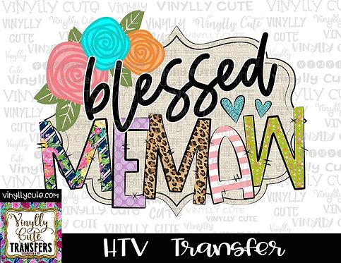 Blessed Memaw ~ HTV Transfer