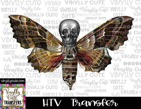 Moth Skull ~ HTV Transfer