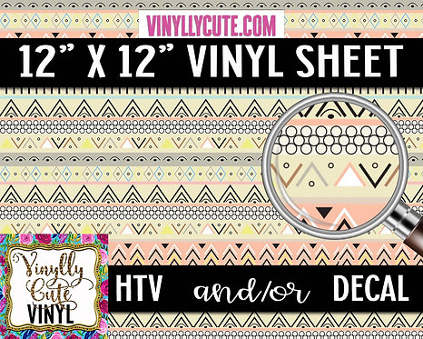 Pastel Tribal ~ HTV or ADHESIVE DECAL VINYL