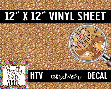Sweet As Pie ~ HTV or ADHESIVE DECAL