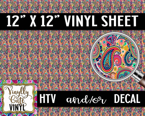 Paisley Small Scale ~ HTV or ADHESIVE DECAL