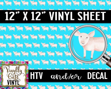 Here Piggy Piggy Vinyl ~ HTV or ADHESIVE DECAL