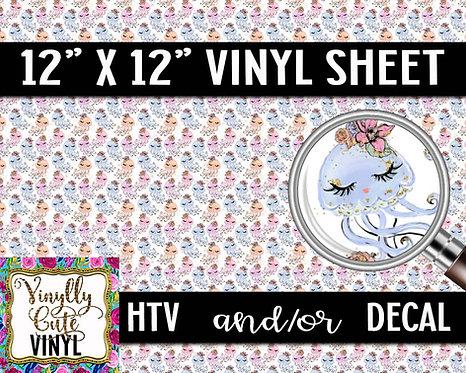 Jellyfish Vinyl ~ HTV or ADHESIVE DECAL
