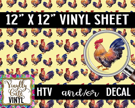 Rooster Vinyl ~ HTV or ADHESIVE DECAL