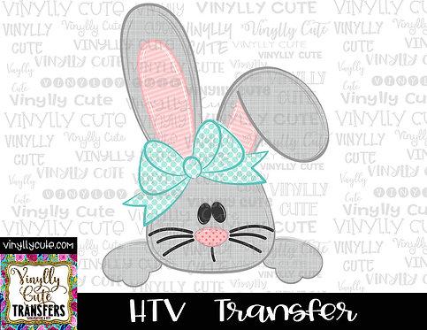 Girl Bunny Peeker ~ HTV Transfer ~ Easter