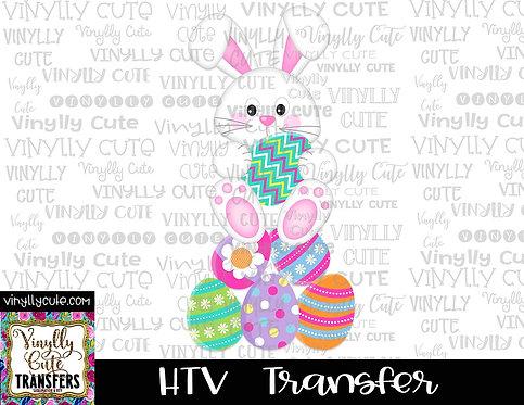 Easter Bunny On Eggs ~ HTV Transfer