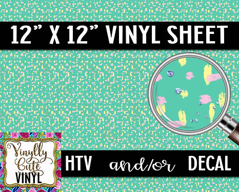 Pastel Minty Smudges ~ HTV or ADHESIVE DECAL