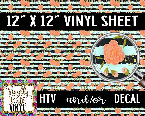 Preppy Peach Vinyl ~ HTV or ADHESIVE DECAL