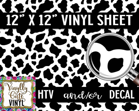 Cow Print Vinyl ~ HTV or ADHESIVE DECAL