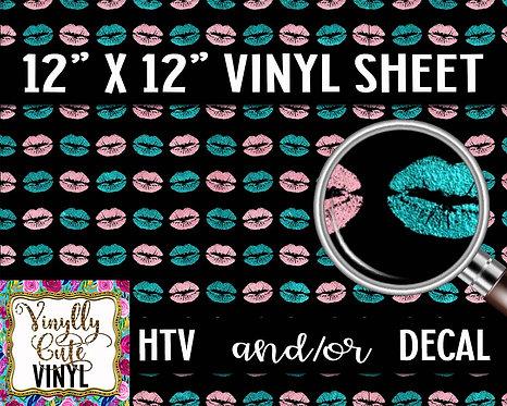 Retro Smooches Vinyl ~ HTV or ADHESIVE DECAL