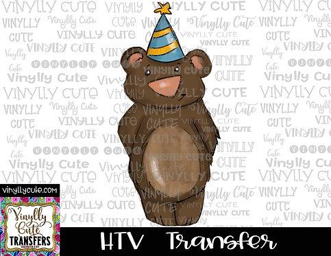 Birthday Bear ~ HTV Transfer