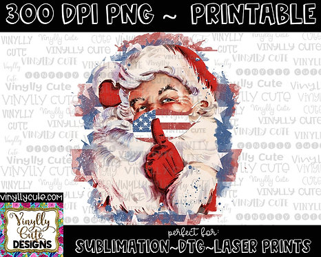 DIGITAL -  American Masked Vintage Santa