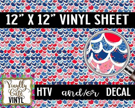 American Mermaid Vinyl ~ HTV or ADHESIVE DECAL