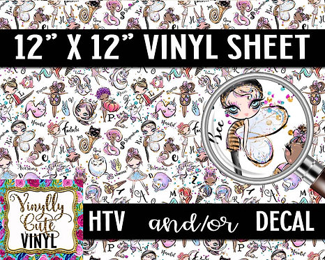 Alphabet Fun Vinyl ~ HTV or ADHESIVE DECAL