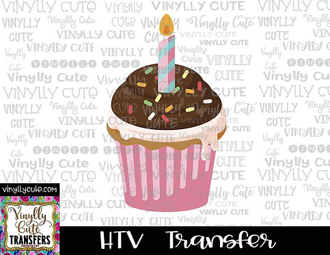 Cupcake Birthday ~ HTV Transfer