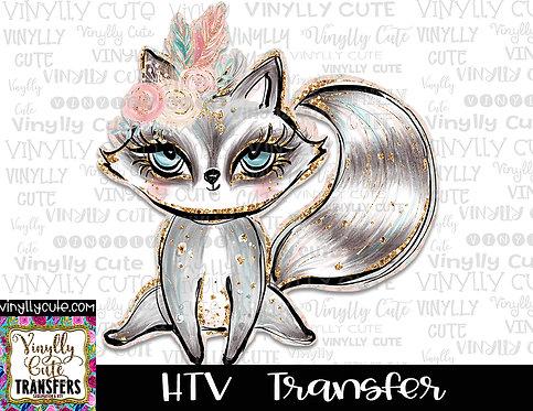 Boho Raccoon ~ HTV Transfer ~ Easter