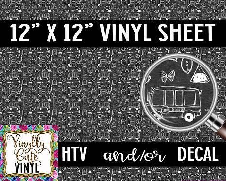 School Chalkboard Vinyl ~ HTV or ADHESIVE DECAL